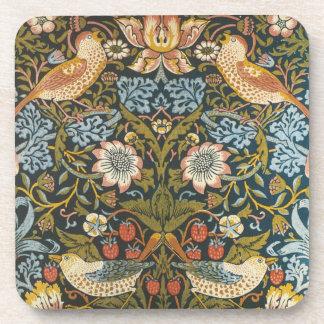 Porta-copo Pássaros antigos das flores de William Morris do