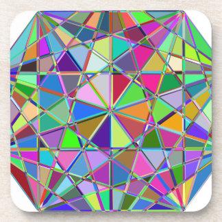 Porta-copo Pedra de gema tirada Kaleidescope colorida