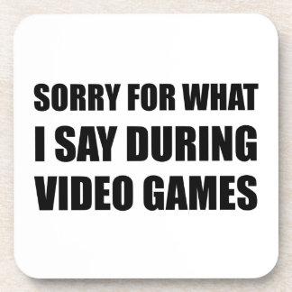 Porta-copo Pesaroso diga o video games