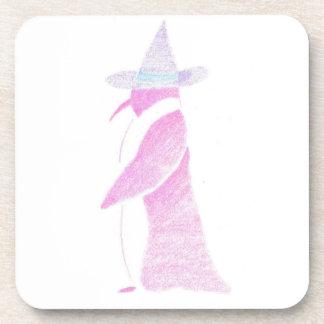 Porta-copo Pinguim no chapéu de uma bruxa