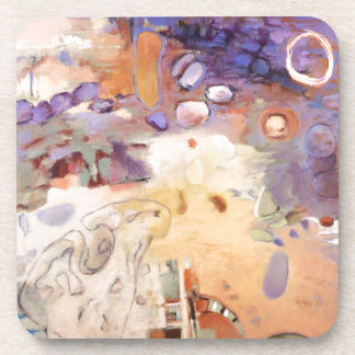 Porta-copo Pintura abstrata do jardim
