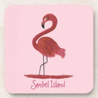 Porta-copo Pintura cor-de-rosa das belas artes do flamingo -