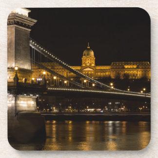 Porta-copo Ponte Chain com castelo Hungria Budapest de Buda