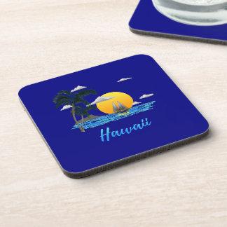 Porta-copo Por do sol da praia de Havaí