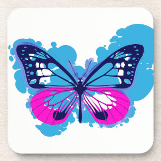 Porta-copo Portas copos azuis da borboleta do pop art