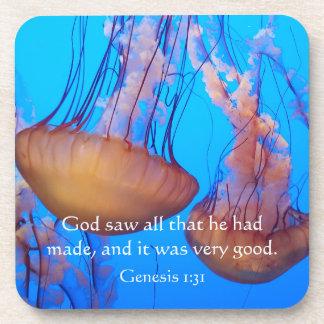 Porta-copo Portas copos bonitas do verso da bíblia das medusa