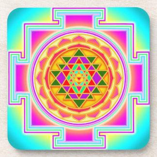 Porta-copo Portas copos do yantra de Shri