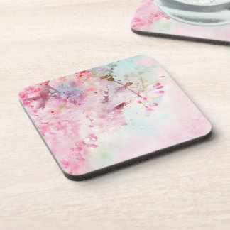 Porta-copo Portas copos florais da aguarela cor-de-rosa