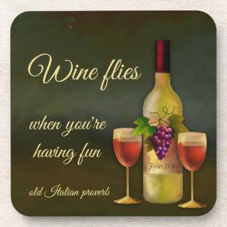Porta-copo Portas copos italianas originais do vinho da arte