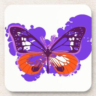 Porta-copo Portas copos roxas da borboleta do pop art