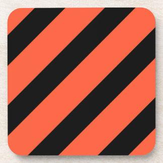 Porta-copo Preto e laranja listra o teste padrão do vintage