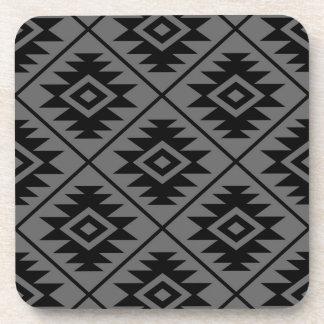 Porta-copo Preto grande estilizado de Ptn do símbolo asteca