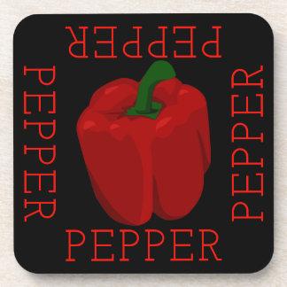 Porta-copo Quadrado da pimenta vermelha