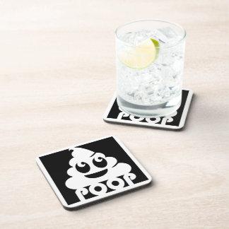 Porta-copo Quadrado de Emoji Poo