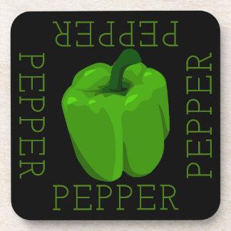Porta-copo Quadrado verde da pimenta de Bell