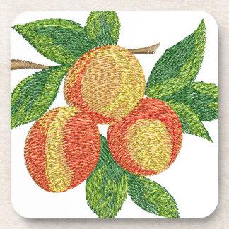 Porta-copo ramo do pêssego, imitação do bordado