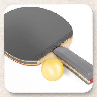 Porta-copo Raquete e bola de ténis de mesa