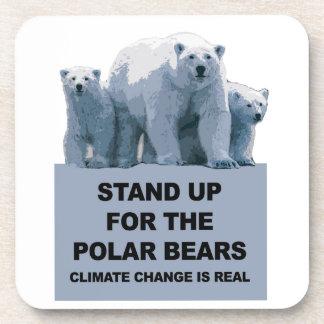 Porta-copo Represente acima os ursos polares