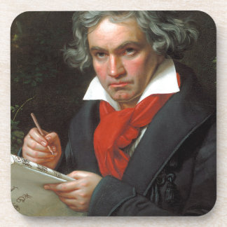 Porta-copo Retrato do vintage do compositor, Ludwig von