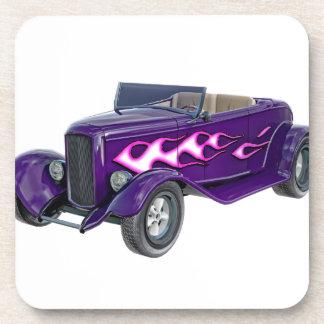 Porta-copo Roadster de 1932 roxos com chama