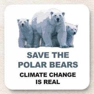Porta-copo Salvar os ursos polares