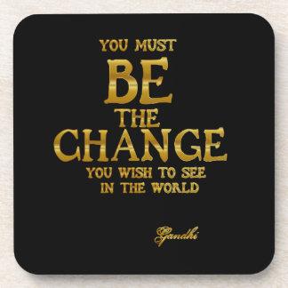 Porta-copo Seja a mudança - citações inspiradas da ação de