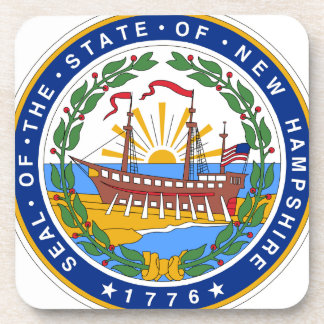 Porta-copo Selo do estado de New Hampshire