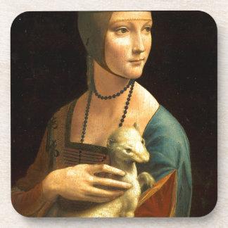 Porta-copo Senhora da pintura de Da Vinci original com um