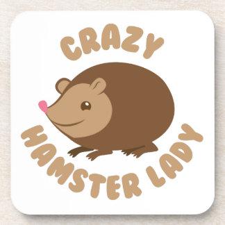 Porta-copo senhora louca do hamster