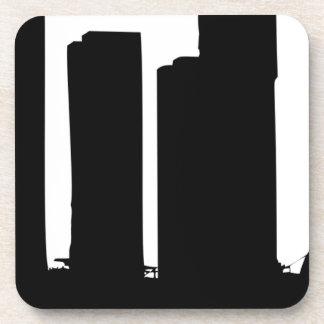 Porta-copo Silhueta da arquitectura da cidade