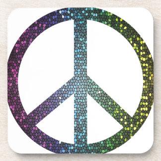 Porta-copo sinal de paz
