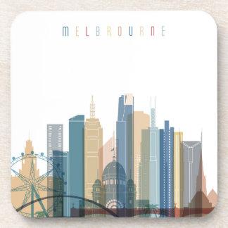 Porta-copo Skyline da cidade de Melbourne, Austrália |