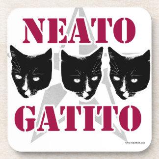 Porta-copo Slogan Sassy do gato de Neato Gatito