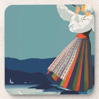 Porta-copo Suecia das viagens vintage