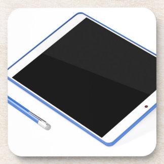 Porta-copo Tabuleta no suporte e na caneta digital