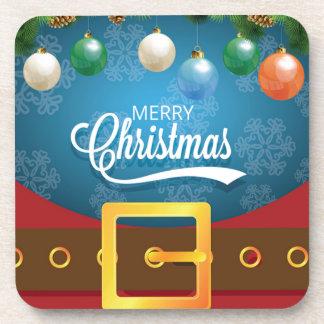 Porta-copo Terno do papai noel do Feliz Natal