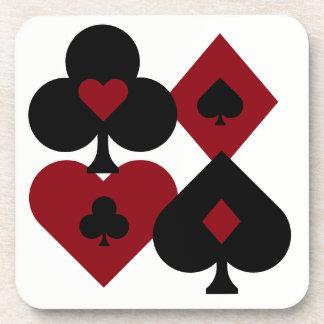 Porta-copo Ternos vermelhos & pretos da plataforma de cartão