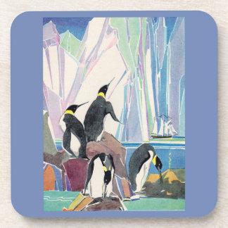 Porta-copo terra do pinguim