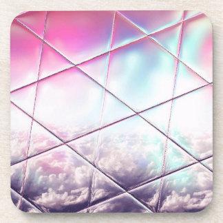 Porta-copo Teste padrão abstrato cor-de-rosa, branco, do roxo