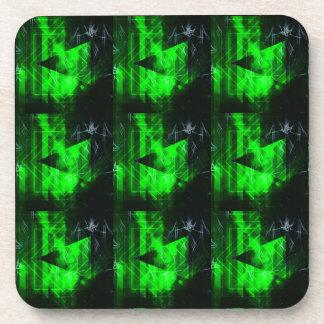 Porta-copo Teste padrão abstrato geométrico verde e preto