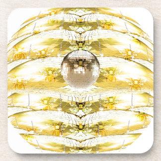 Porta-copo Teste padrão da colmeia da abelha da bola do disco