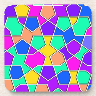Porta-copo teste padrão geométrico islâmico