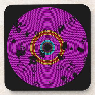 Porta-copo Teste padrão multicolorido da textura do disco do