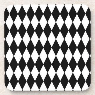 Porta-copo Teste padrão preto e branco do Harlequin do