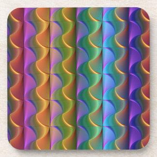 Porta-copo Teste padrão psicadélico colorido brilhante