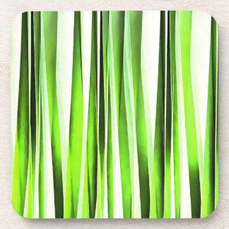 Porta-copo Teste padrão Stripy verde eterno
