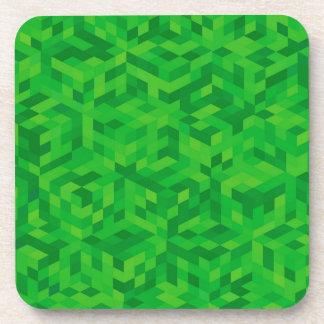 Porta-copo teste padrão verde