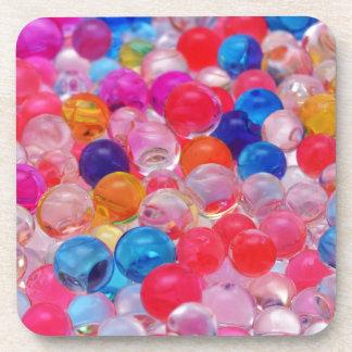 Porta-copo textura colorida das bolas da geléia