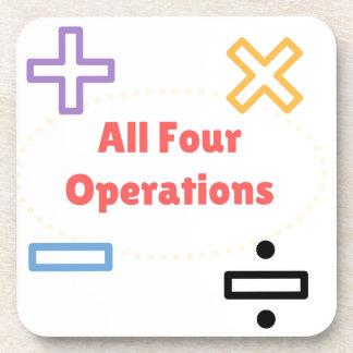 Porta-copo Todas as quatro operações