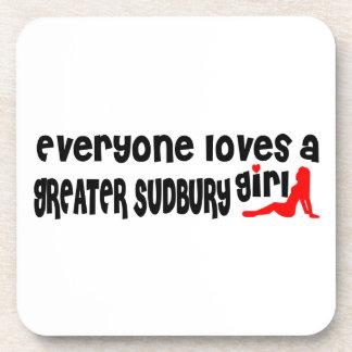 Porta-copo Todos ama uma menina maior de Sudbury